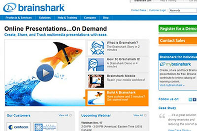 Brainshark screenshot